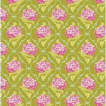 Coton lilas, vert, 50 x 70 cm, 100% coton