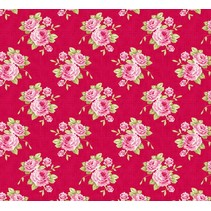 Cotton Bedstemors rosa, rød, 50 x 70 cm, 100% bomuld