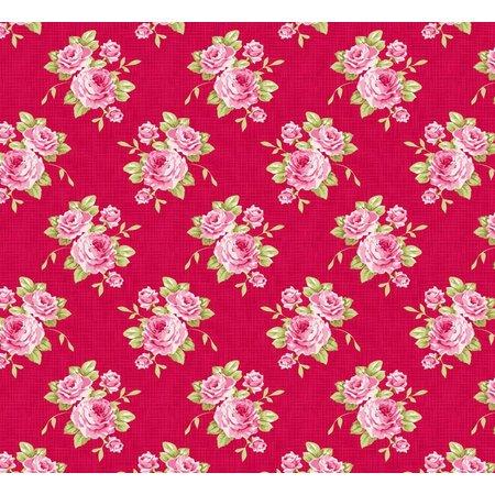 Tilda La rosa de algodón de la abuela, rojo, 50 x 70 cm, 100% algodón