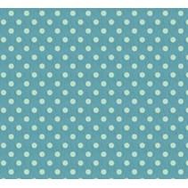 Bomuld, 50 x 70cm, stor blå plet, 100% bomuld.
