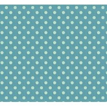 Coton, 50 x 70cm, grande tache bleue, 100% coton.