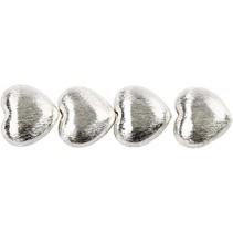 4 Eksklusive perle, hjerte, størrelse 15x10x7 mm