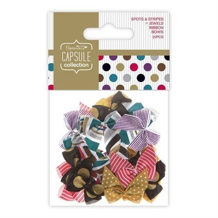 Embellishments / Verzierungen 20 loops con puntos y rayas