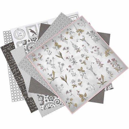 DESIGNER BLÖCKE  / DESIGNER PAPER 1 pack de 6 modèles différents, feuille 30.5 x 30.5 cm