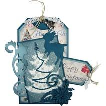 Joy Crafts, poinçonnage et gaufrage & Embroideryschablone, 6002 2008, Arbre de Noël