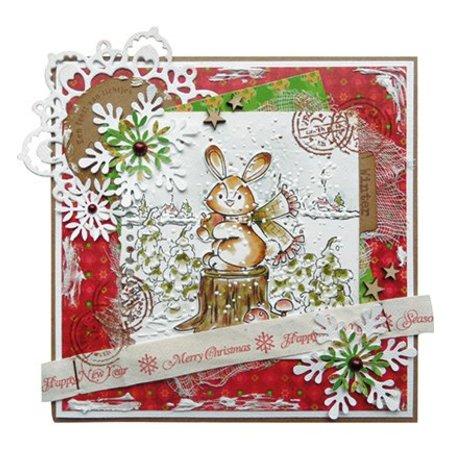 DESIGNER BLÖCKE  / DESIGNER PAPER Marianne Design Eline Navidad del arbolado, PrettyPapers A5, 8 diseños de 32 hojas