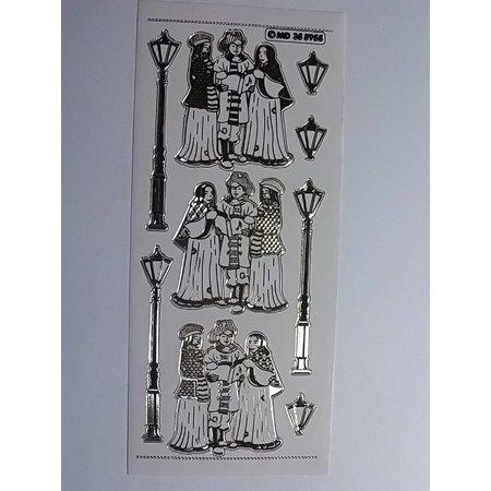 Sticker Dekorative mærkat, præget i stor detalje, 10 x 23cm.
