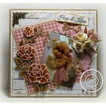 Marianne Design, estampage et gaufrage pochoir, Craftables - Rose Coin