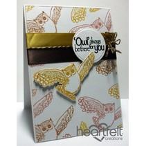 """Rubber stamp set """"Il est Owl Good"""""""