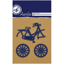 Punching and embossing template: Aurelie bike