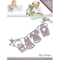 Stansning og prægning skabelon: Baby Collection