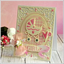 Punching and embossing template: Babysachen