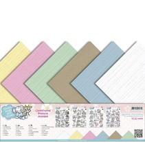 Linge carton 30,5 cm x30,5, couleurs délicates
