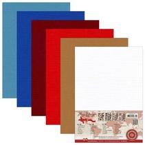 Lin Carton A5, couleurs chaudes