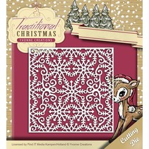 Punching and embossing template: Snowflake frame
