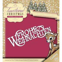 Punching and embossing template: Merry Christmas