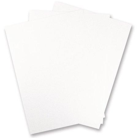 DESIGNER BLÖCKE  / DESIGNER PAPER 10 ark Metallic pap, hvid