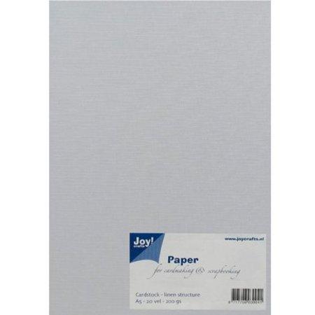 Joy!Crafts und JM Creation A5, papir, linned struktur, hvid