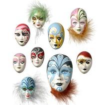 Mold: Masques Mini de bijoux, 4-8cm, sans décoration, 9 pièces, 130 g de besoins matériels.