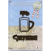 Stamping and embossing template: Beer Glass