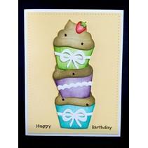 Poinçonnage et gaufrage modèle: Cupcakes