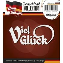Punzonado y estampado en relieve plantillas: texto Alemán: Buena suerte