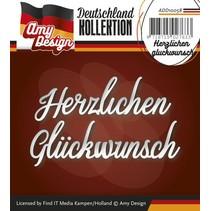 Poinçonnage et gaufrage modèles: texte allemand: Merci glückwunsch