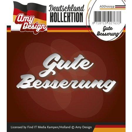 Amy Design Punzonado y estampado en relieve plantillas: texto Alemán: consiga bien pronto