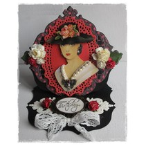 3D Book A5, kvinder med hat