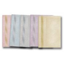 "5 Bogen Deko-Karton ""Spitzen"", gold-laminiert in 5 Farbe!"
