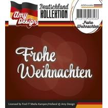 Punzonado y estampado en relieve plantillas: texto en alemán: Feliz Navidad