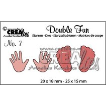 Stansning og prægning skabelon: Baby, hænder og fødder