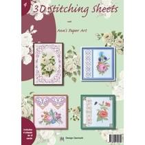 A4 livre Stickvorlage pour 8 cartes