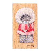 Moi pour vous, Tatty Teddy, timbre en bois - Winter Wonderland