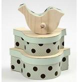 Objekten zum Dekorieren / objects for decorating 3 boîtes sous forme d'oiseau