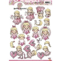 A4 cut sheets: Girl with heart