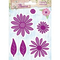 Troquelado y estampado en relieve plantilla: Beautiful Flowers