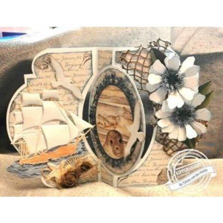 Dutch DooBaDoo Plantilla A4: tarjeta de oscilación arte de la carta