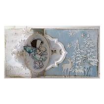 A4 Skabelon: Card Art Swing kort No.4