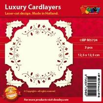 mises en page de cartes de luxe, 3 pièces