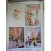 3D Stanzbogen + 1 Hintergrundbogen : Hochzeit