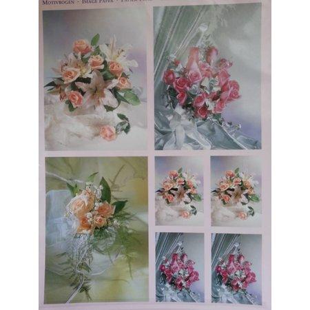 BILDER / PICTURES: Studio Light, Staf Wesenbeek, Willem Haenraets 3D hojas de corte con troquel + 1 hojas de fondo: ramos de novia