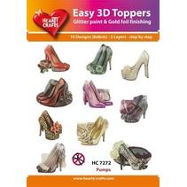 10 verschiedenen 3D Motive, Thema: Mode, Schuhe