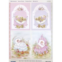 3D Die cut sheets + 1 background sheets: Baby