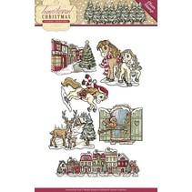 NOUVEAU timbre Transparent: Noël