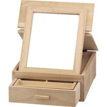 caja de joyería, hecho de madera para la decoración.