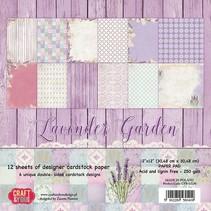 """Bloc Designer, 30,5 x 30,5 cm, """"Lavender Garden"""""""