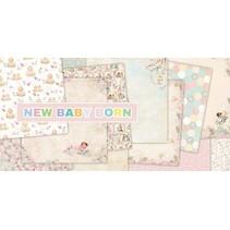 "Designerblock, 30,5 x 30,5cm, ""New Baby Born"""
