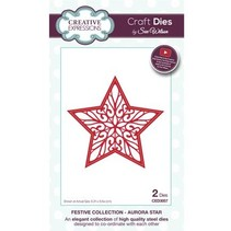 Punching and embossing template: filigree star