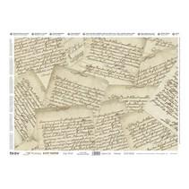 Decoupage, Precious 35x50cm de softpaper, Lettres précieux.